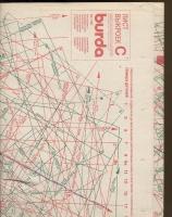 ч. BURDA 1990 01 C-D лист выкроек