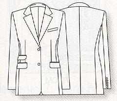 Like for - технический рисунок пиджака мужского - likeforyou
