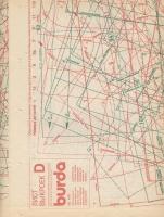ч. BURDA 1990 04 C-D лист выкроек