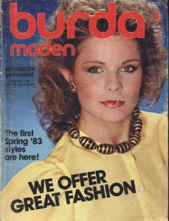 Журнал BURDA MODEN 1983 1