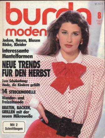 Журнал BURDA MODEN 1987 8