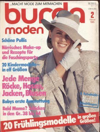 Журнал BURDA MODEN 1985 2