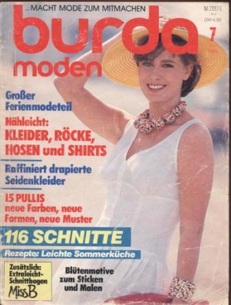 Журнал BURDA MODEN 1986 7