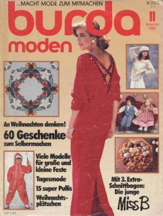 Журнал BURDA MODEN 1984 11
