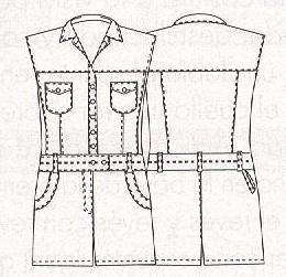 выкройка комбинезона из джинсовой ткани 24 размера