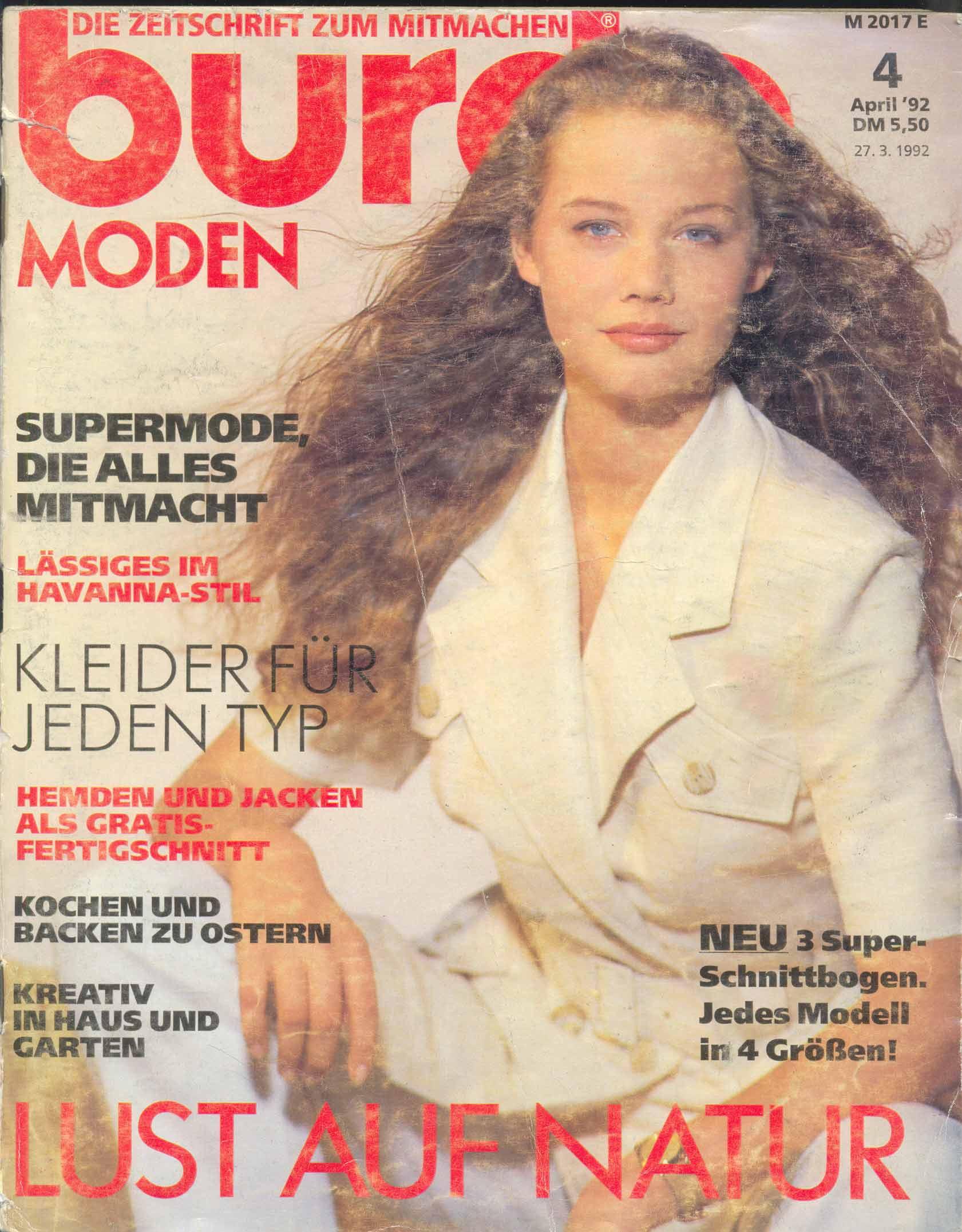 Журнал BURDA MODEN 1992 4