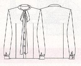 Выкройка блузки с бантом. - Каталог блуз, кофт и шорт 2015 года