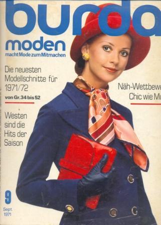 Журнал BURDA MODEN 1971 9