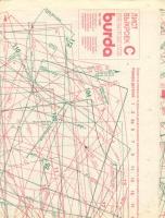 ч. BURDA 1989 12 C-D  лист выкроек