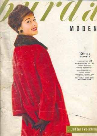 Журнал Burda Moden 1958 10