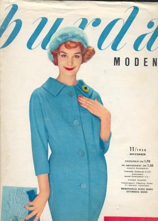 Журнал Burda Moden 1958 11