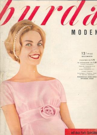Журнал Burda Moden 1958 12