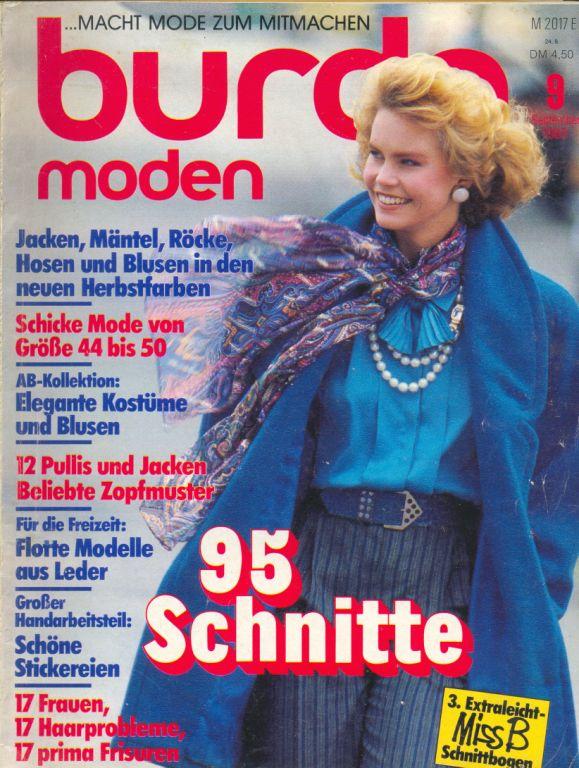 Журнал BURDA MODEN 1985 9