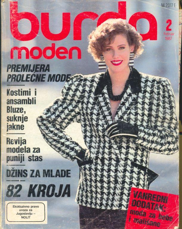 Журнал BURDA MODEN 1987 2