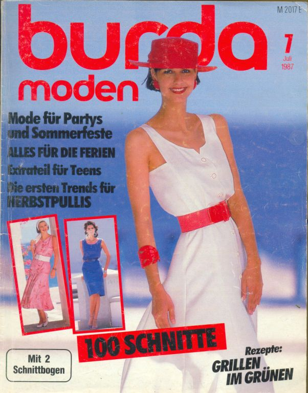 Журнал BURDA MODEN 1987 7