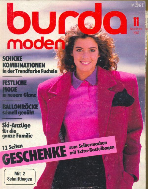 Журнал BURDA MODEN 1987 11