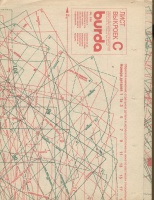 ч. BURDA 1990 03 C-D лист выкроек